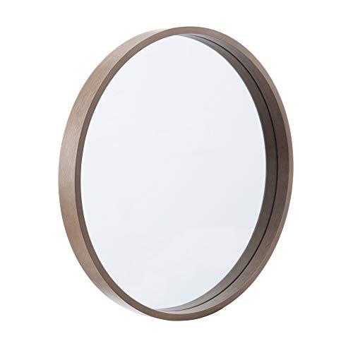 Espejo Redondo Natural de Cristal y DM nórdico, de Ø 45 cm - LOLAhome