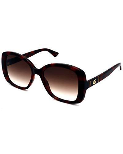 Gucci GG0762S Havana/Brown Shaded 56/18/145 Damen Sonnenbrillen