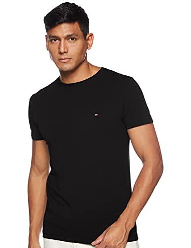 Tommy Hilfiger Core Stretch Slim Cneck tee Camiseta, Negro (Flag Black 083), XXL para Hombre