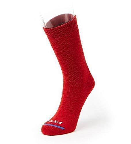 Compatible con tamaño mediano Hiker–Tripulación: esencial calcetines de senderismo, Rojo