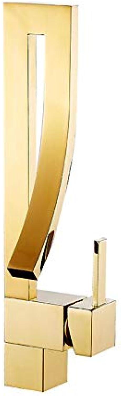Küchenarmaturen Goldwaschbeckenhahnwaschbeckenwaschbecken Kreatives Konzept Mode Heier Und Kalter Einlochhahn