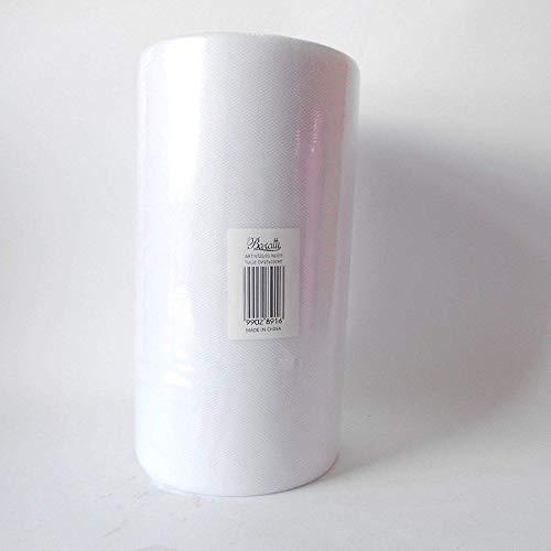 Baratti Rotolo Bobina Tulle 25 cm X 100 Metri, Bianco