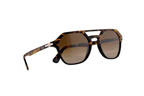 Persol 3206-S Zonnebril Tortoise Bruin Zwart w/Clear Gradient Brown Lens 54mm 108851 PO 3206S PO3206S PO3206-S
