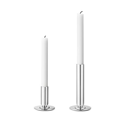 Georg Jensen Manhattan Kerzenhalter, Edelstahl, Material: Mirror Polished Stainless Steel, 0.2 x 0.2 x 16.5 cm