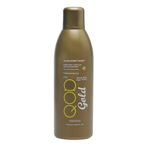 QOD Gold Alquimist Brazilianische Keratin Haarglättung Behandlung mit 22K Gold 1000ml Formaldehyd frei