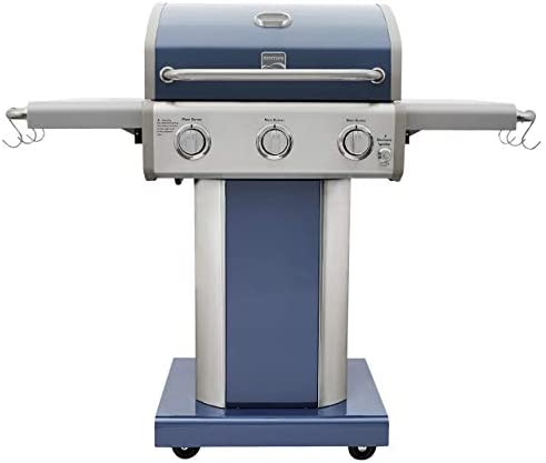 Kenmore PG 4030400LD AZ AM 3 Burner Outdoor Patio Gas BBQ Propane Grill Azure product image