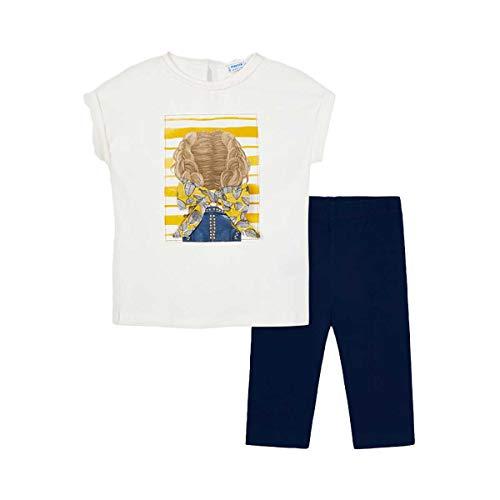 Mayoral Juego de mallas y camiseta para niña Marino 3735 Marino 6 años