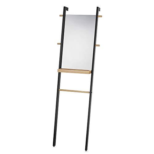 Kela Standspiegel, Oak, Pulverbeschichtetes Metall mit Eichenholz, 24264, Schwarz matt