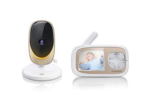 Motorola Baby Comfort 40 - Baby Monitor con pantalla de 2,8'- Video wifi para bebés y monitor doméstico con luz ambiental - Blanco