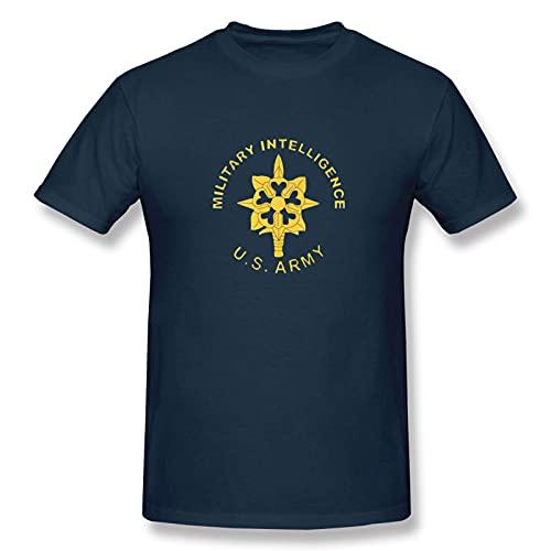 Military Intelligence Us Army Logo Man Cotton Slim T Shirts Basic Short Sleeve Crew Neck tee Top Tshirts