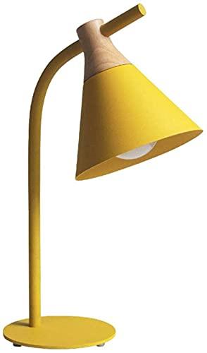 SpiceRack Lámpara de Mesa Personalizada, lámpara de Mesa de Madera de Hierro Macaron, lámpara de Escritorio Simple y Moderna, LED E27, Pantalla de Pintura de Hierro, Luces de Lectura para sa
