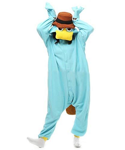 Adult Animal One-piece Pajamas Cosplay Homewear Sleepwear Jumpsuit Costume for Women Men Blue