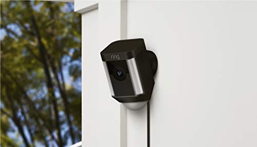 Ring Spotlight Cam Wired: Plugged-in HD security camera with built-in spotlights, two-way...