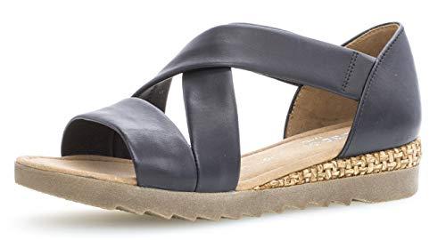 Gabor 22.711 Damen Sandalen,Riemchensandale, Frauen,Sandalette,Sommerschuh,flach,Comfort-Mehrweite,Navy (Grata/Ambra),6 UK