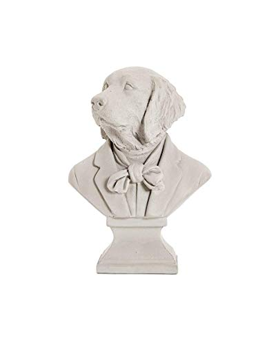 HYBUKDP Estatuas Adornos Zen Estatua Puppy Sculpture Ornament, estatua de jardín Puppy Shape Bust Decoración de escritorio Decoración de resina Artesanía Regalo creativo 25 * 18 * 13 cm Escultura de l