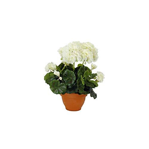 Mica decorations 947284 bloemen, geranium grote, beige