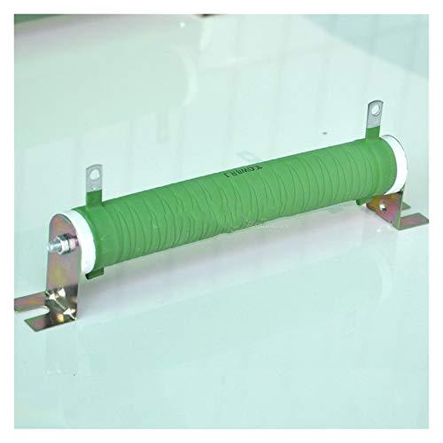 XIAOZSM Resistor Resistencia de Tubo de cerámica recubierta de Cable de Alambre no inductivo de 8 ohmios 100 vatios, Amplificador de Audio Carga ficticia, 100W