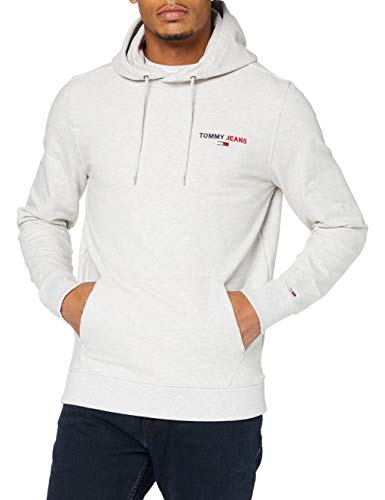 Tommy Jeans Herren TJM Tommy Chest Graphic Hoodie Hose, Silbergrau Htr, M