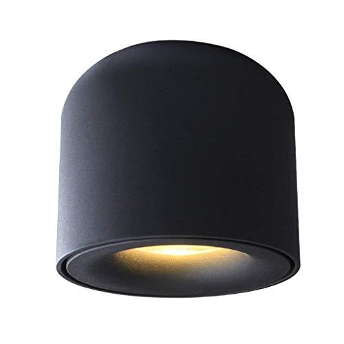 Casa perfetta LED 5W 7W massief aluminium Scrub High Color Rendering Down Design woonkamer plafond kleding winkelverlichting muur spot light (kleur: zwart-7W)