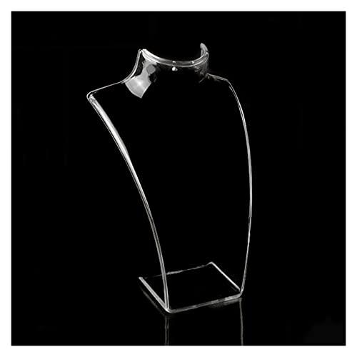 OPNIUNIU Soporte para Joyería 3PC Mujer acrílico maniquíes Collar exhibición maniquí Pantalla Collar Collar Busto exhibición Colgante joyería exhibición estantería Soporte de Exhibición de Joyería