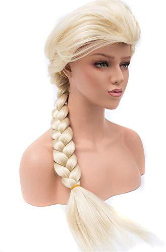 Hermosa peluca larga ondulada Pelucas para Mujeres Cospalia Peluca Disfraz de Partido Sinttico Pelo Natural Temperatura Pelucas de Peluca de Fibra (Longitud estirada: 28 pulgadas) Pelucas de fiesta