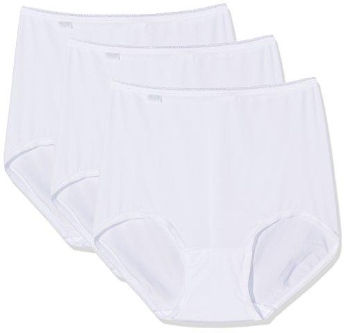 Sloggi 24/7 Microfibre H Maxi C3p Vita Alta Collant, Bianco (Blanc), (Taglia Produttore: EU 50 / FR 52) (Pacco da 3) Donna