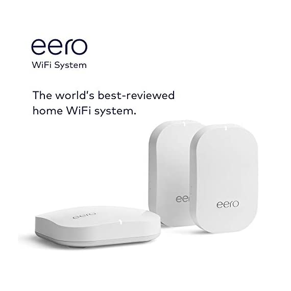 Amazon eero Pro mesh WiFi system (1 Pro + 2 Beacons) 9 Whole-home WiFi system - The Amazon eero Pro mesh WiFi system (3 eero Pros) replaces the traditional WiFi router, WiFi extender, and internet booster by covering a 5+ bedroom home with fast and reliable internet powered by a mesh network. eero 2nd generation - With the most intelligent mesh WiFi technology and powerful hardware, the eero 2nd generation WiFi system is 2x as fast as the original eero WiFi. Backwards compatible with 1st generation eero products. Cutting edge home WiFi - Unlike the common internet routers and wireless access points, eero automatically updates once a month, always keeping your home WiFi system on the cutting edge.