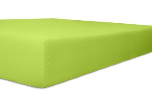 Kneer 2501854 Easy-Stretch Spannbetttuch Qualität 25, Größe 180 x 200-200 x 220 cm, Limone