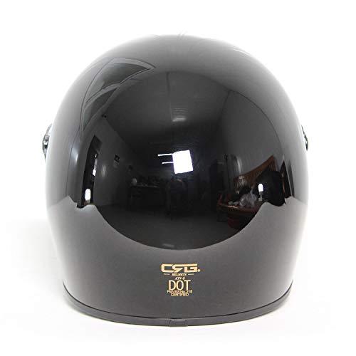 CRGATV-8バイクヘルメットオートバイヘルメットフルフェイスヘルメット超軽量耐衝撃性男女兼用ブラック(ブラックレンズ,XXL63-64cm)