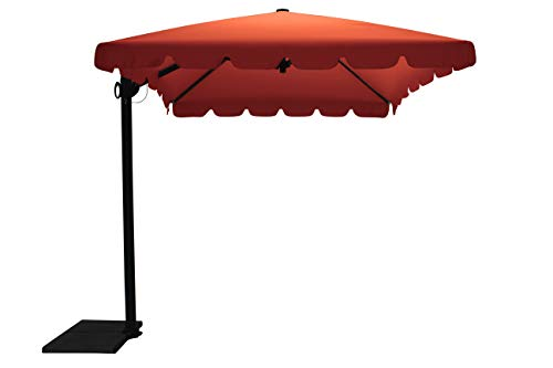 Maffei Art 87r Allegro, Parasol deporté rectangulaire cm 300x200, Tissu TexMa, Made in Italy. Couleur Terracotta