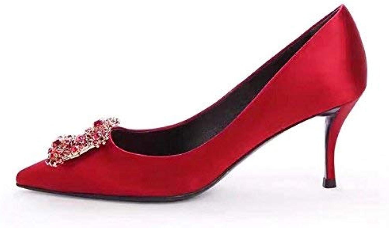 Gericht Schuhe Brautschuhe Brautschuhe Brautschuhe rote Hochzeit Schuhe weibliche Geldstrafe mit Spitzen High Heels weibliche Silber Strass Catwalk Party Hochzeit Schuhe Schuhe Frauen (Farbe   42, Größe   schwarz 10CM)  5a9307