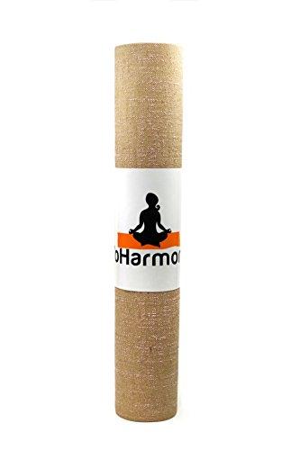 yoharmony respetuoso con el medio ambiente yute esterilla de yoga pilates ejercicio mat