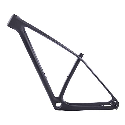 Tideace Rigid UD Matte 29er Carbon Fiber Mountain Bike Frame Carbon MTB Frame 27.5er Bicycle Frame 135x9 and 142x12mm Compatible (29er 17inch)