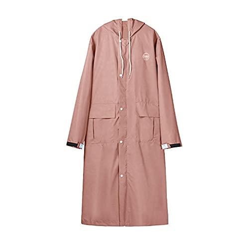 szy Chubasqueros Capas De Lluvia Capas De Lluvia Impermeable para Mujeres Impermeable con Capucha Abrigos De Lluvia Largos Abrigos Ligeros (Color : Pink, Size : M)