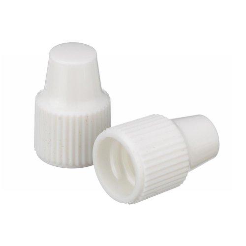 Wheaton 242510 Tropfflaschen-Verschluss, 8-425, Verwendung mit 8 mm Spitze und 1-3 mL Tropfflaschen, Weiß (100-er Pack)