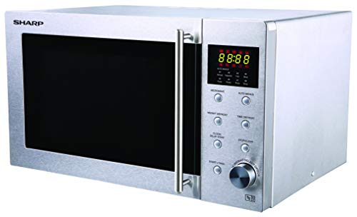 Sharp R28STM Solo Microwave, 23 Litre capacity, 800W, Stainless Steel