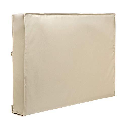 Cubiertas De Tv Resistente a la intemperie de televisión al aire libre a prueba de polvo tapa color beige 32' 36' 40' 46' 50' 55' 60' 65' proteger la pantalla de TV del patio del jardín de TV Cubierta