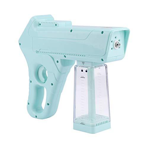 QNMM Pistola Vapor Nano de Desinfección, Máquina Pulverizadora de Atomización Eléctrica Pistola de Vapor Nano de Desinfección de Luz Azul para Houlhold, Cocina, Hospital, Escuela, Viajes