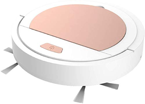 Robotic Vacuum Cleaning, Multifunctional USB Rechargeable Cleaning Machine Vacuum Cleaner Sweeping Robot (12.6X2.5, White Golden)