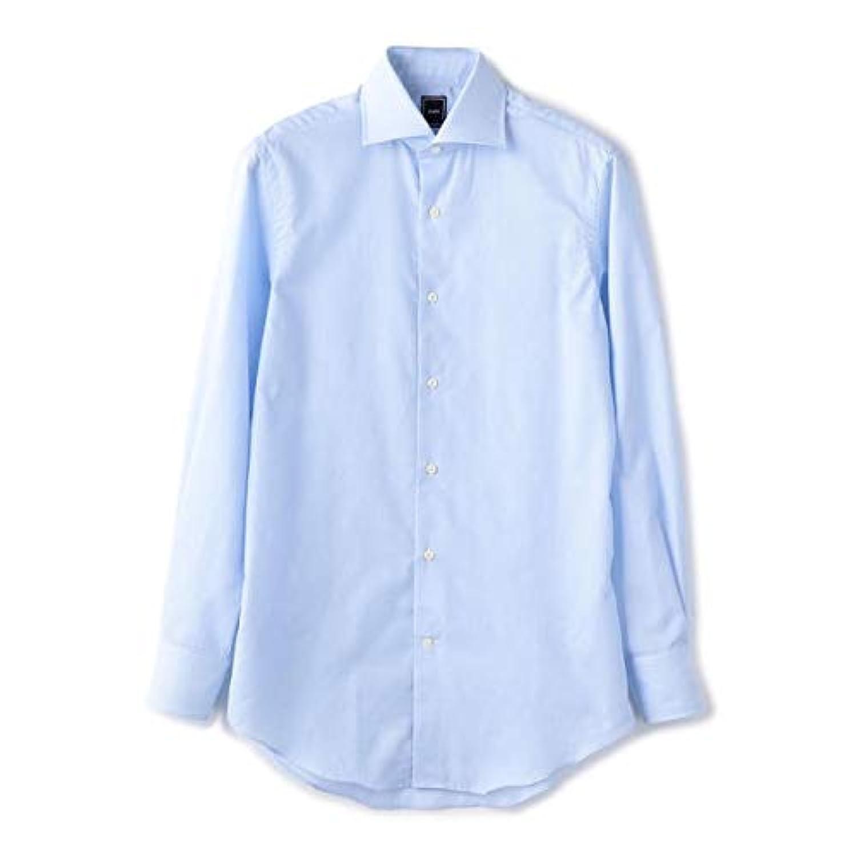 シップス(メンズ)(SHIPS) SD: ハイライン ファインフィット カラミ ワイドカラー シャツ(ライトブルー)
