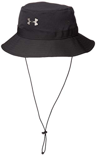 Under Armour Men's ArmourVent Warrior Bucket Hat , Black (001)/Metallic Ore , One Size Fits All
