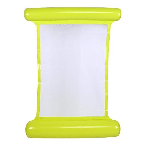 Taidda Hamaca de Agua, Silla Flotante de Cama Flotante Inflable para Piscina, Hamaca de Agua portátil Flotante para Adultos y niños(Amarillo)