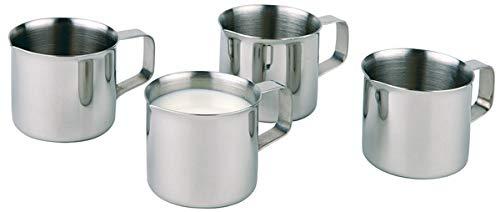 APS Milchkännchen 4er-Set, kleine Kännchen für Kaffeesahne/Milch, Sahnegießer, Inhalt à 25 ml, Edelstahl