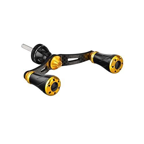 XUJIEI Spinning Carbon Reel Manija Compatible con Shimano Vanford Stradic TwinPower, 72mm 98mm Tunning Mango (Color : Gold, Use Mode : 72mm Shimano)
