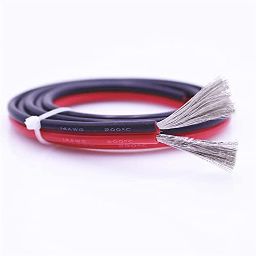 caihv-Alambres eléctricos, Cable de Alambre de Silicona Ultra Suave en Paralelo Rojo...