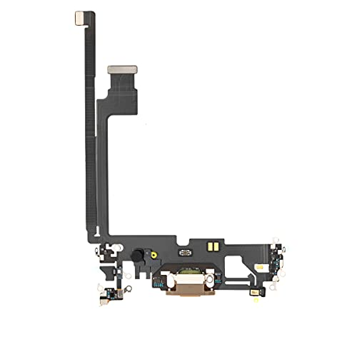 Best Shopper - Replacement Charging Charge Port Flex Cable with Microphone for Apple iPhone 12 Pro Max - Gold