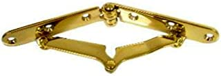 Brass Plated Drop Front Desk Hinge - 2 PC/Pack | HB-70