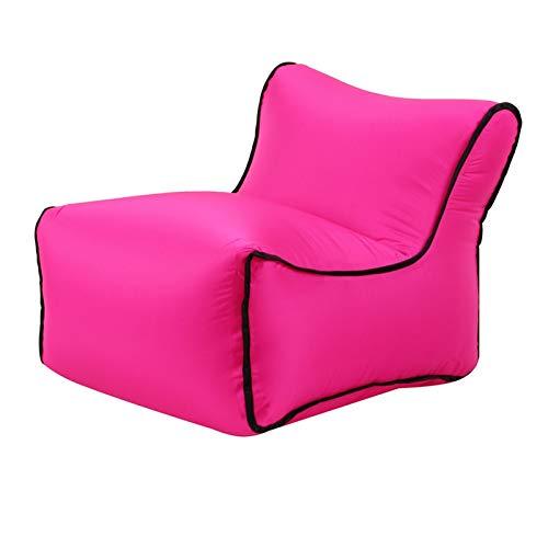 ZFY Bolsos para el sofá de la Silla del sofá Perezoso de la Tumbona Inflable Conveniente para el Viaje del Camping del Partido al Aire Libre (Color : Hot Pink)