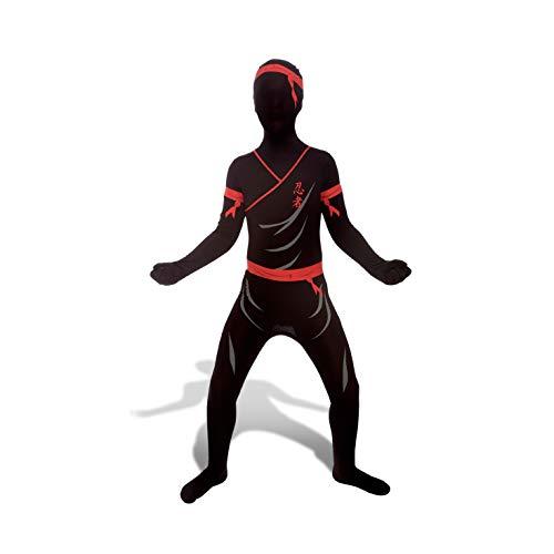 Morphsuits - CS96009/L - Seconde peau morphsuit enfant ninja noir taille l
