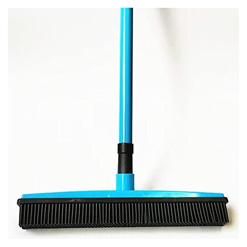 JUSTYUSHU Push Broom Sofro Sofombras de Goma Escobar Sweeper Scheegee Miracle Broom Pet Eliminación de Pein Eliminación de la casa Sweeeper (Color : Blue)